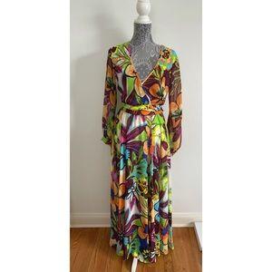 Ark & Co Multi Color Floral Print Maxi Dress